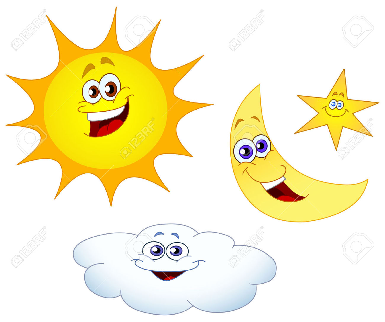 1300x1090 Free Sun And Moon Clipart