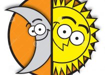 210x150 Sun And Moon Clipart Images