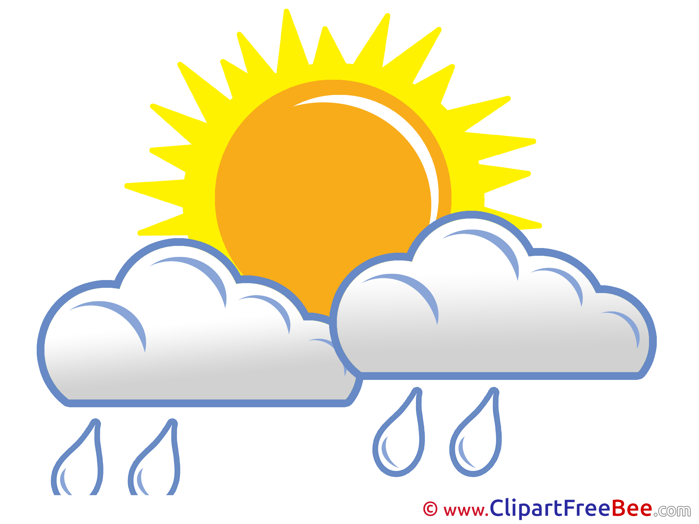 2400x1800 Rain Clouds Sun Free Cliparts For Download