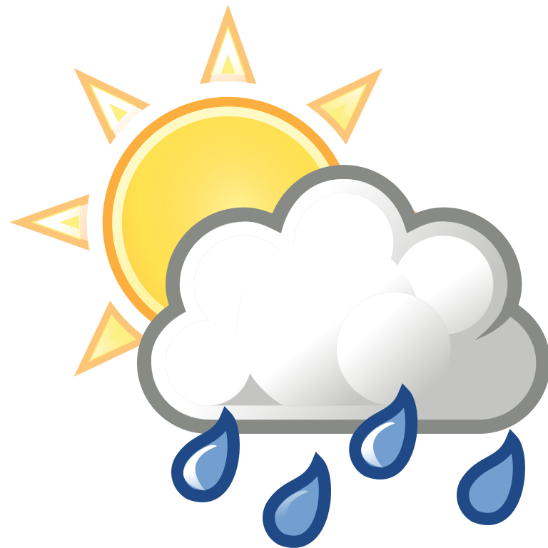 768x768 Rain Clipart Partly Cloudy