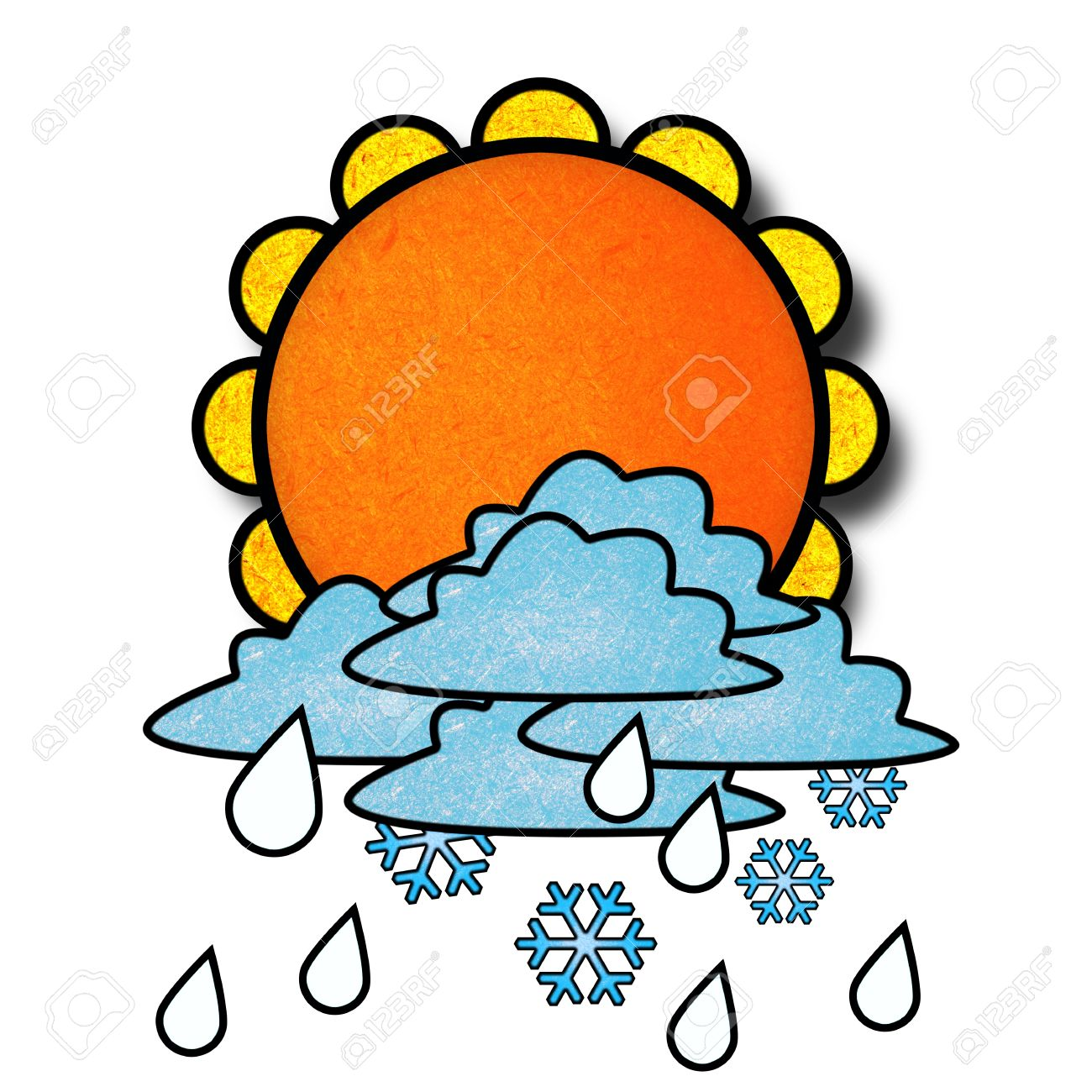 1300x1300 Snow Clipart Rain And Snow