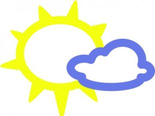310x233 Sun And Rain Weather Symbols Clip Art Free Vectors Ui Download