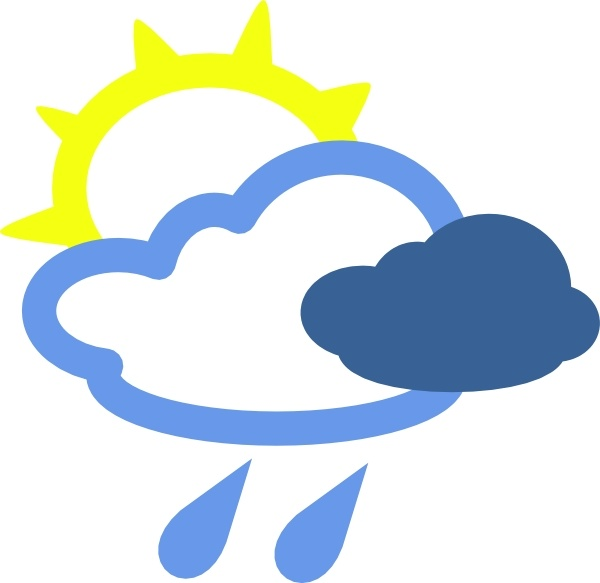 600x583 Sun And Rain Weather Symbols Clip Art Free Vector In Open Office