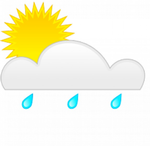 626x608 Sun Rain Vector Free Download