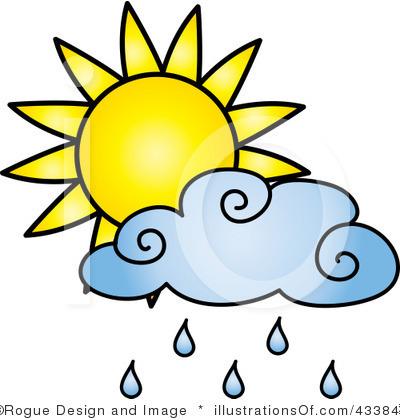 400x420 Sunshine Clipart Rain