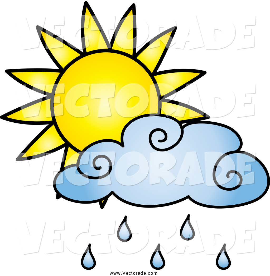 1024x1044 Vector Of A Sun And A Blue Rain Cloud By Pams Clipart