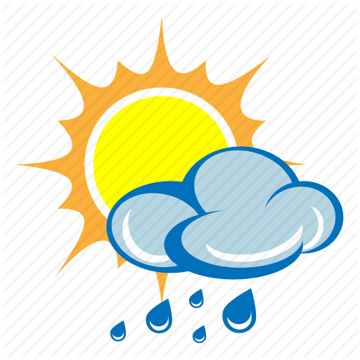 512x512 Cloud, Drizzle, Rain, Shower, Storm, Sun, Weather Icon Icon