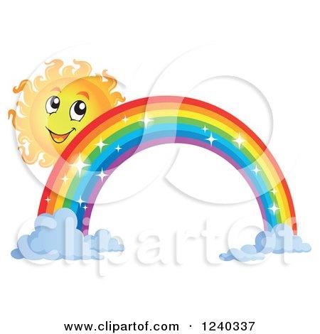450x470 Rainbow Butterfly clipart sun
