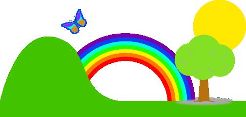 504x240 Rainbow clip art 3