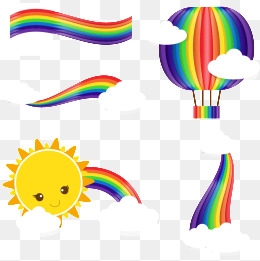 260x261 4 Beautiful Rainbow Clipart, Rainbow, Clip Art, Sun Png And Vector
