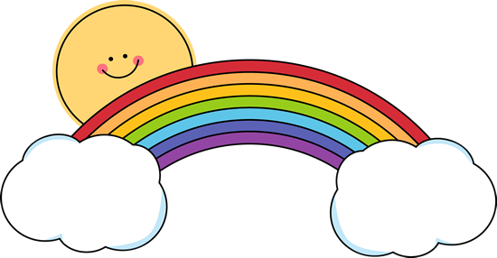 550x286 Sun Peeking Over Rainbow Clip Art