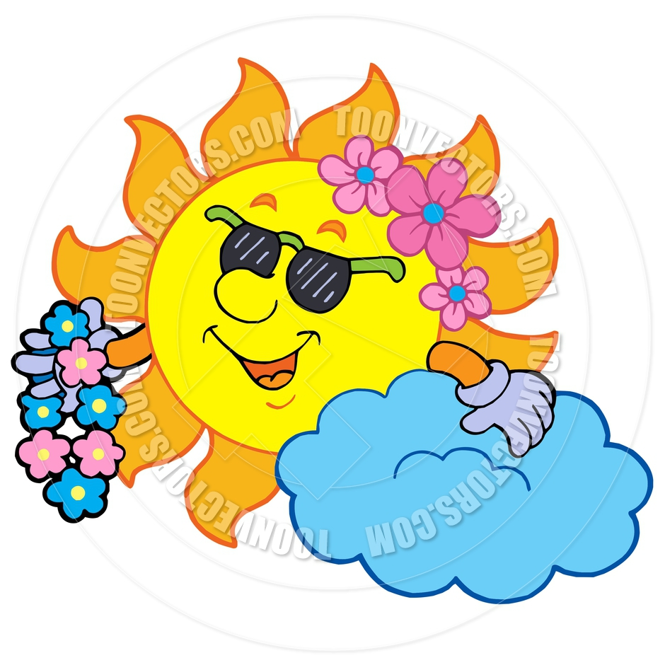 940x940 Cartoon Hawaiian Sun By Clairev Toon Vectors Eps