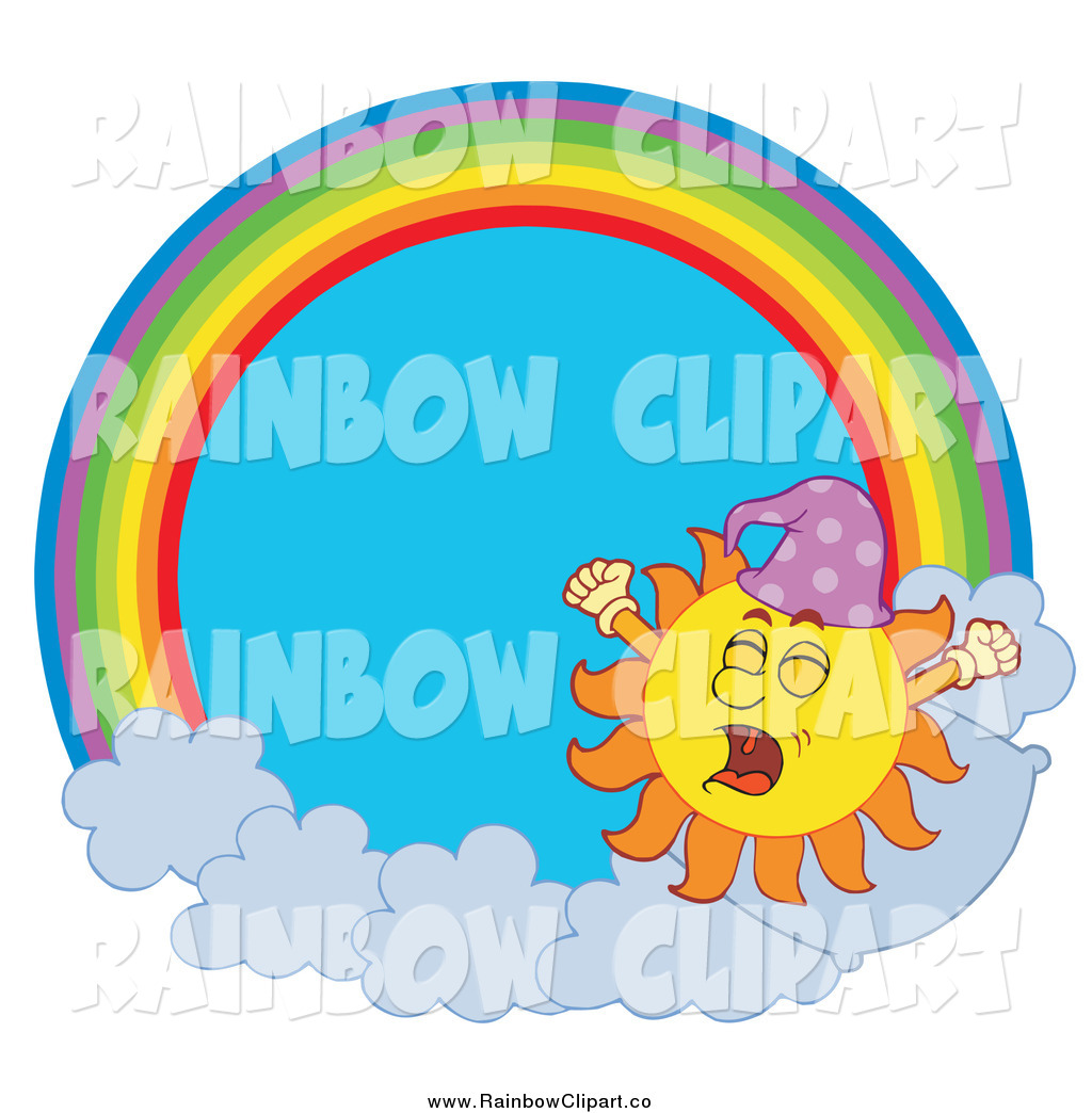 1024x1044 Vector Clip Art Of A Sun Yawning In A Rainbow Circle By Visekart
