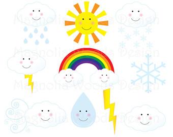340x270 Weather Clipart Rainbow Clip Art Sun Clipart Instant