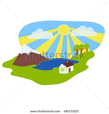 450x470 Nature clipart sun sky