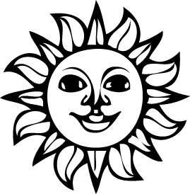 269x274 Bumper Stickers Gt Sun (Black And White)