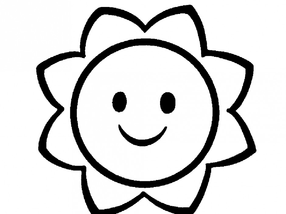 940x705 Happy Sun Clipart Black And White