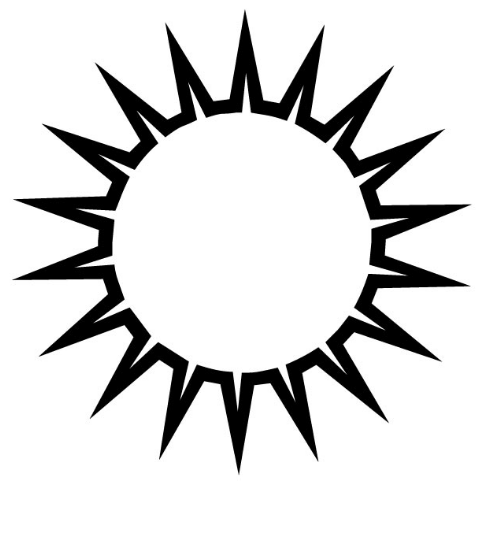 486x553 Latest{20} sun Clipart Black And White Images Free Download