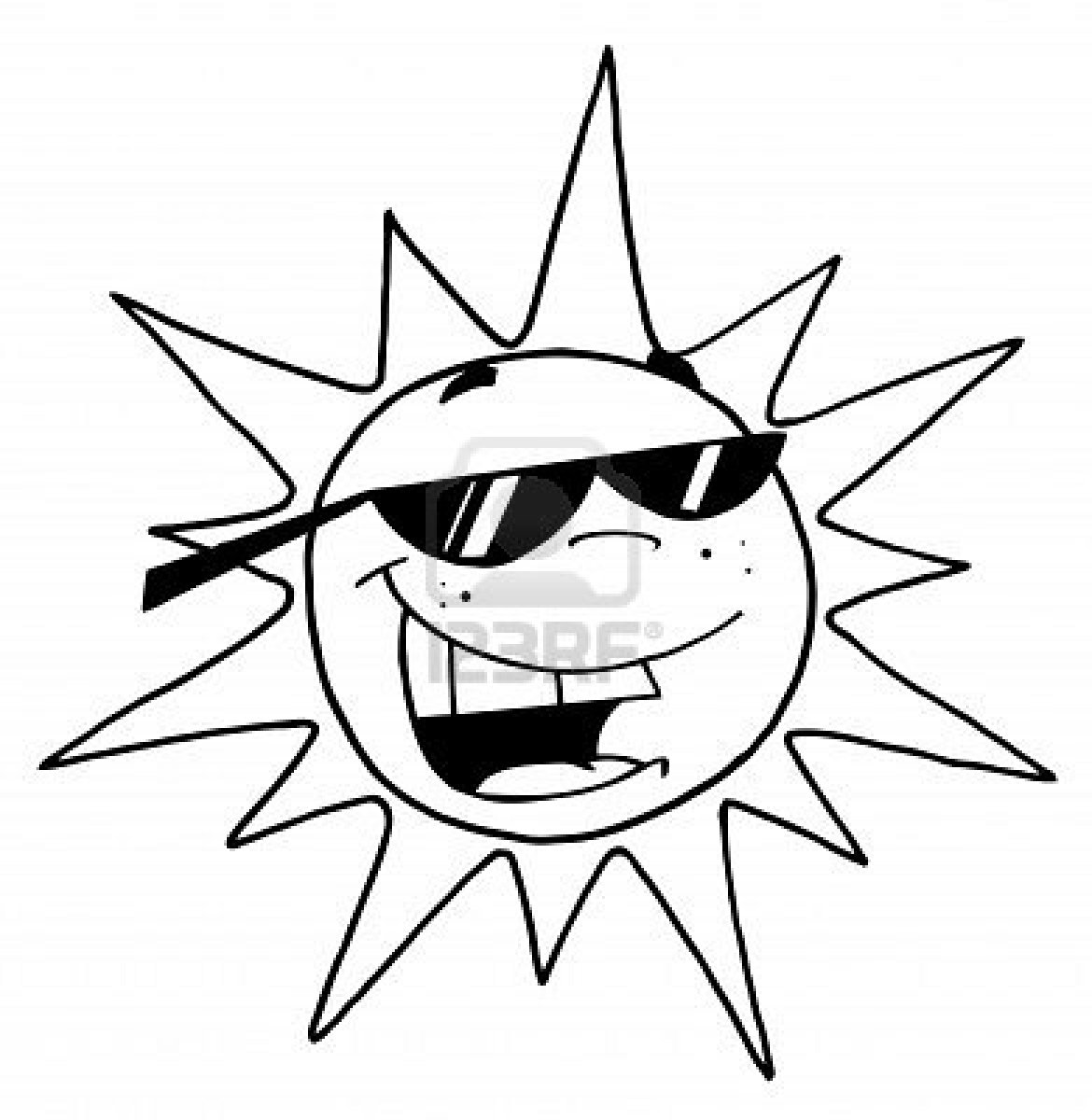 1170x1200 Sun Black And White Clipart