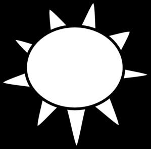 299x294 Sun Outline Clip Art