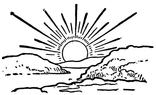 640x392 Sun Black And White Afternoon Sun Clipart Black And White