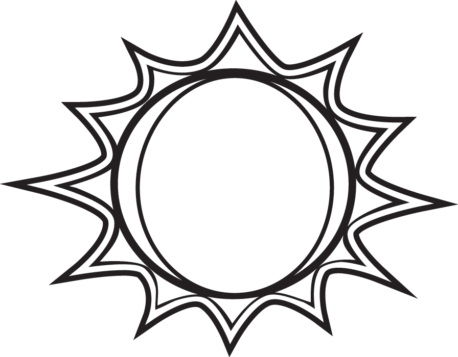 896x700 Sun Black And White Black And White Sun Clipart Free Download Clip