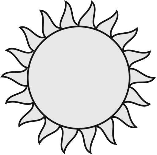 512x504 Sun Black And White Sun Clipart Black And White Free Images 5