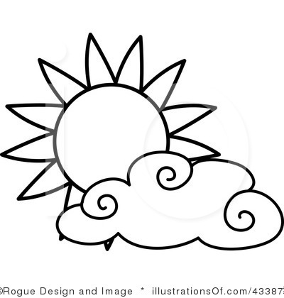 400x420 Sky clipart black and white
