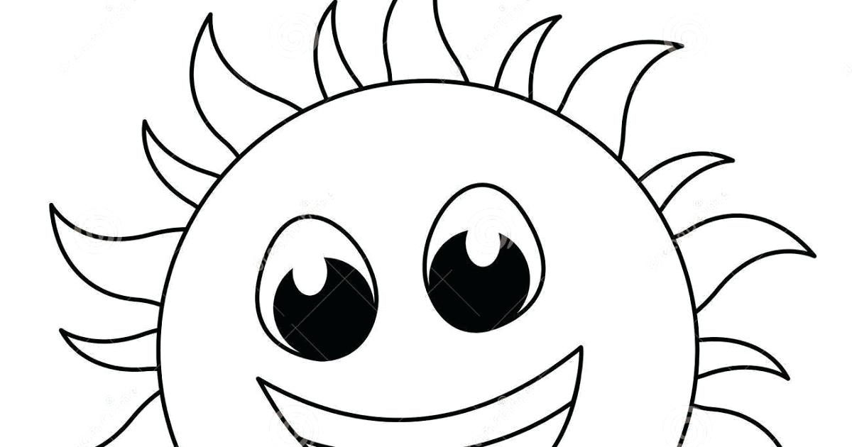 1200x630 Sun Clipart Of A Shining Sun In Black And White Royalty Free