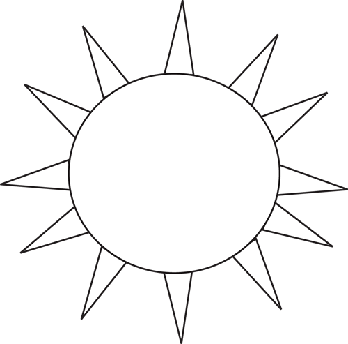 500x493 Sun Black And White Black And White Sun Clipart Free Download Clip