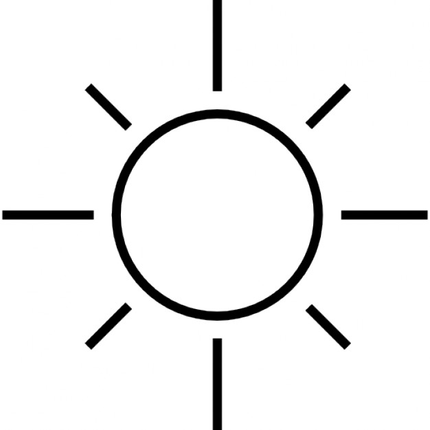 626x626 Sun Clipart Outline Png