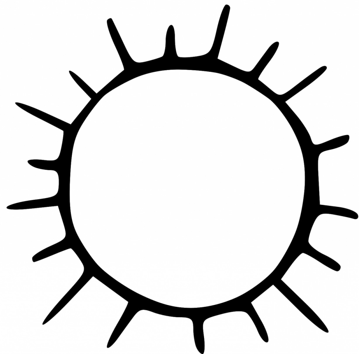 1228x1213 Black And White Clipart Sun