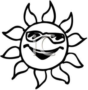 294x300 smiley sun clip art 1s Suns Moons Stars Silhouettes
