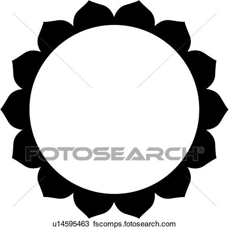 450x451 Clipart Of , Blank, Border, Circle, Fancy, Frame, Lotus, Mandala