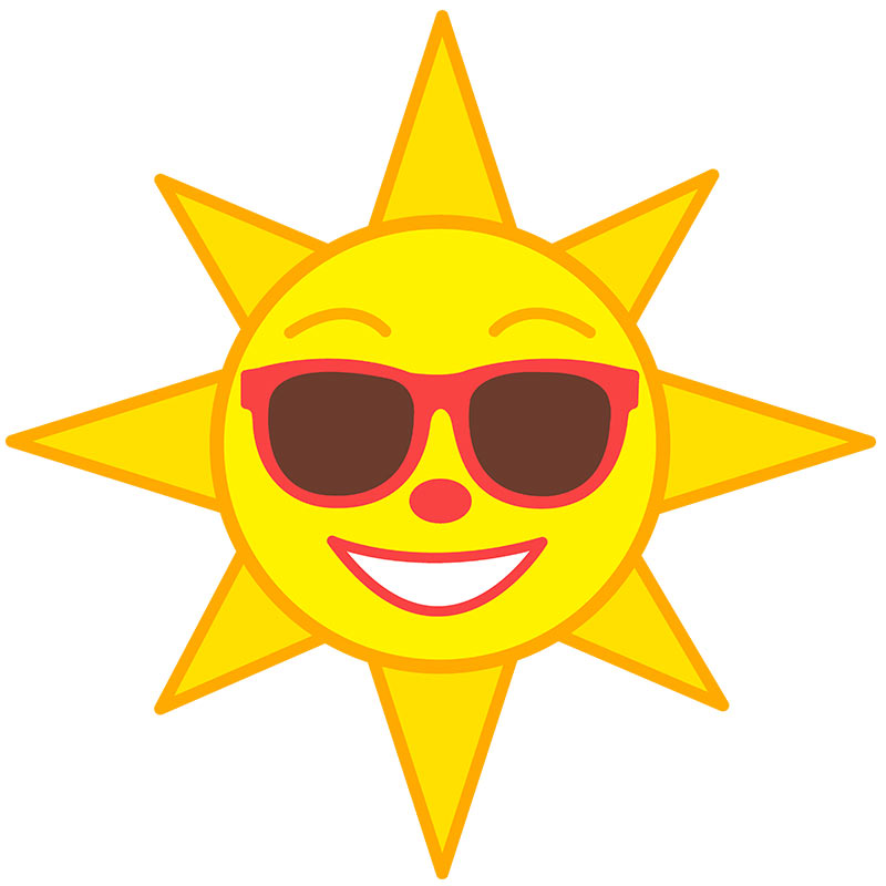 800x800 Summer Clipart Summer Sun