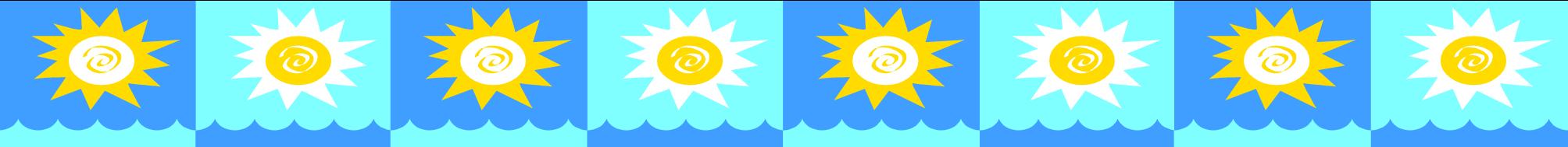 2007x189 Sun Clipart Border