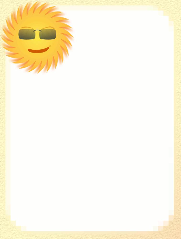 756x1001 Sun Clipart Page Border