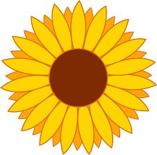 226x223 Sunflower Border Clip Art Sunflower Clip Art Borders Wallpapers