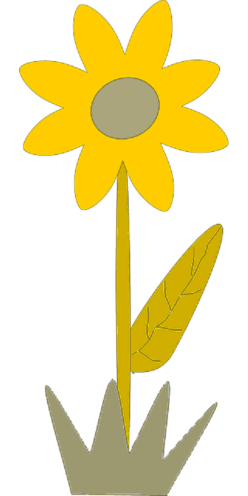 800x1600 Yellow, Plants, Sun, Flower, Flowers, Cartoon, Border