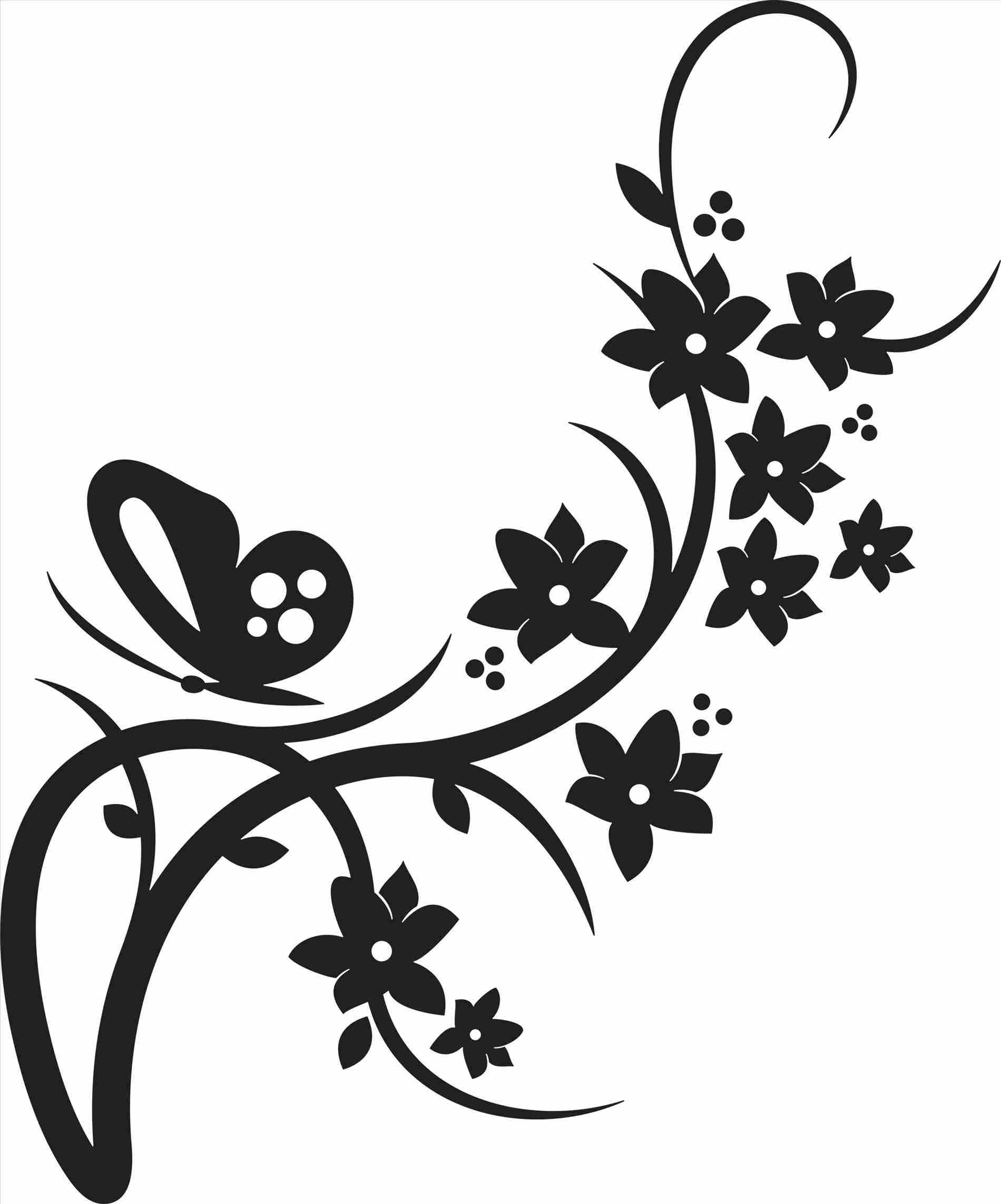 1900x2285 Flower Border Clip Art Black And White S Free Download Sun Wiki