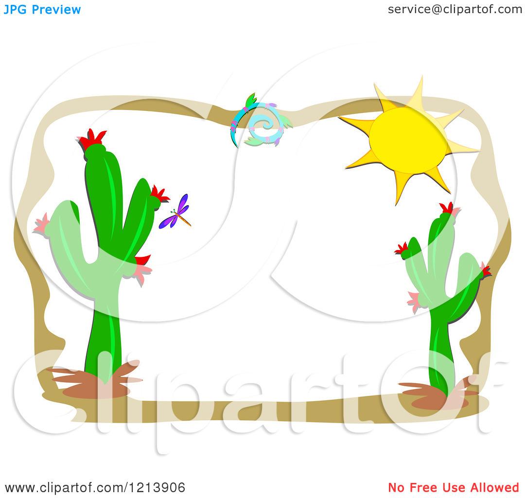 1080x1024 Cactus Border Clipart