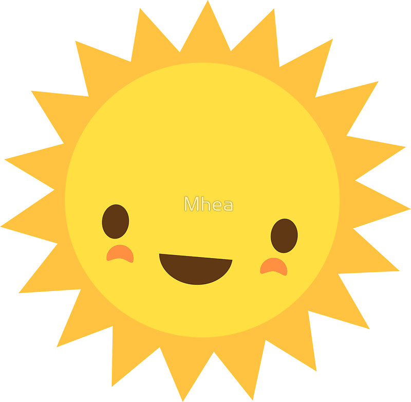 800x782 Cute kawaii sun cartoon character Stickers by Mhea Redbubble