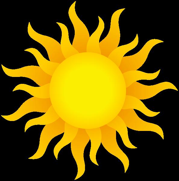 594x600 Realistic clipart sun