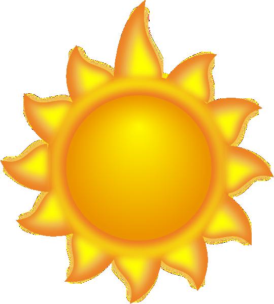 540x600 A Sun Cartoon With A Long Ray 2 Clip Art