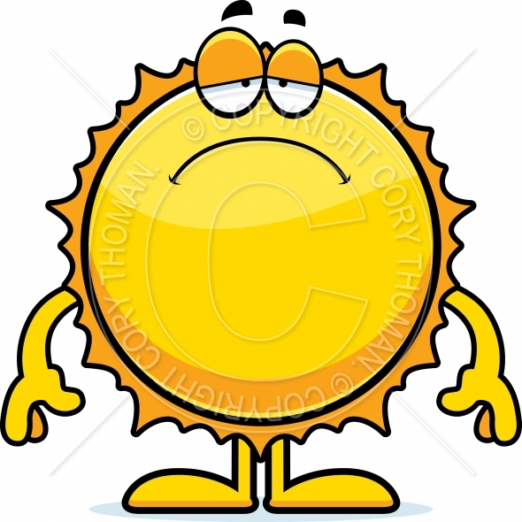 590x590 Sad Cartoon Sun Vector and Royalty Free License