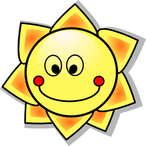 297x298 Smiling Cartoon Sun Clip Art