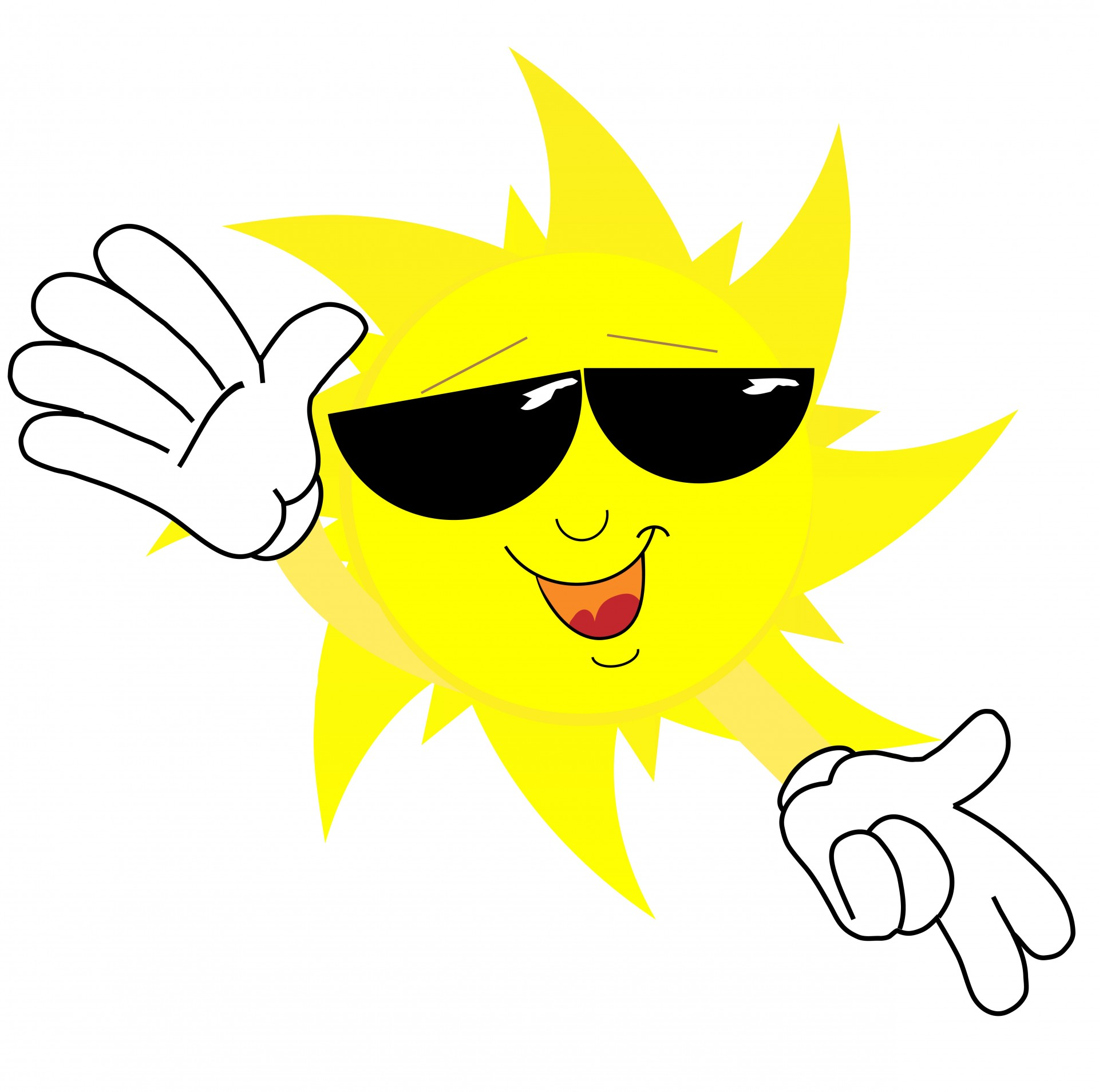 1920x1907 Smiling Sun Face In Sunglasses Free Stock Photo