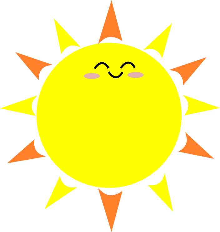 705x744 Sun Cartoon Png