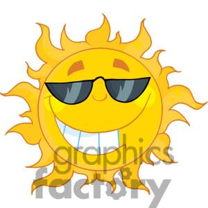300x300 4039 Smiling Sun Mascot Cartoon Character With Sunglasses