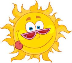 236x206 XOO Plate Cartoon Smiling Sun Vector Illustration